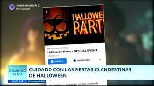 COVID-19: Advierten sobre el peligro de acudir a fiestas clandestinas en Halloween
