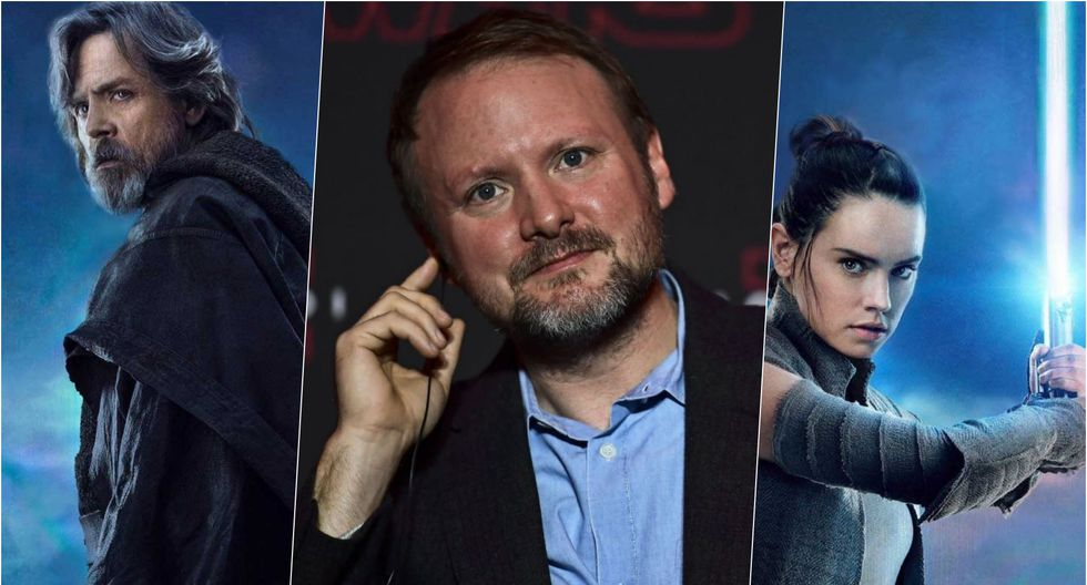 "Rian Johnson dirigió ""Star Wars: The Last Jedi"" en  2017.  (Fotos: AFP/Lucasfilm)"