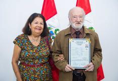 Científico australiano se nacionaliza peruano a los 84 años
