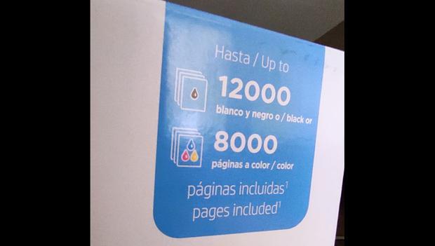 La promesa de HP en cuanto al rendimiento de la Smart Tank 615 es de 12.000 páginas impresas en blanco y negro y 8.000 páginas a color. (Foto: Bruno Ortiz B.)