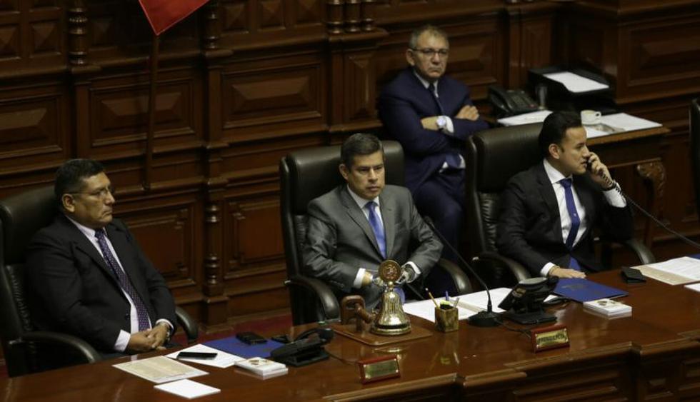 La primera sesión del pleno de este viernes duró 6 minutos para dar cuenta de la moción de vacancia contra PPK. Otra sesión se programó desde las 4 p.m. (Foto: Anthony Niño de Guzmán / El Comercio)