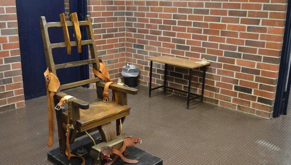 Esta fotografía de archivo, de marzo de 2019, proporcionada por el Departamento Correccional de Carolina del Sur, muestra la silla eléctrica de Columbia, en Carolina del Sur. (Kinard Lisbon / Departamento de Correcciones de Carolina del Sur a través de AP).