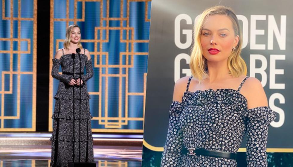 Enfundada en un vestido de Chanel, Margot Robbie se convirtió en una de favoritas de los Golden Globes 2021 donde, además, fue una de las presentadoras de la 78 edición celebrada este 28 de febrero. Foto: AFP