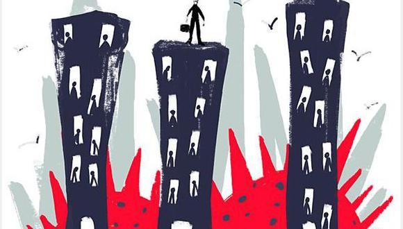"""""""En el segundo trimestre del año, el desempleo en la capital registró récords históricos"""". (Ilustración: Giovanni Tazza)"""