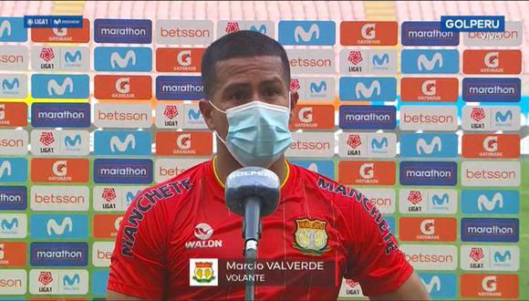 Marcio Valverde denuncia mala actitud de árbitro. (Foto: GolPerú)