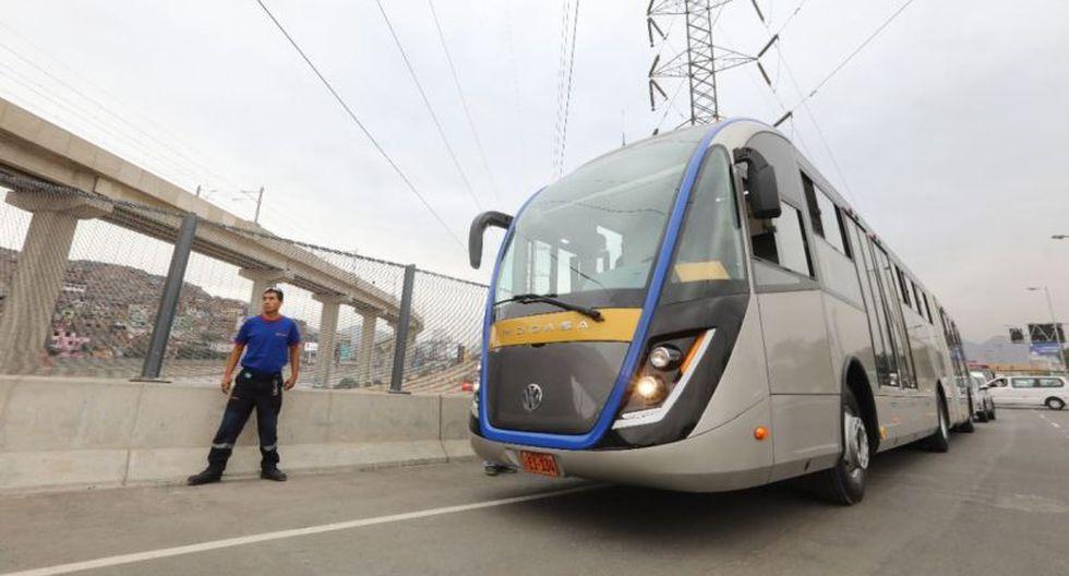 Los buses del corredor amarillo recorrerán la Vía Expresa de Línea Amarilla. (Difusión)