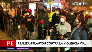 Miraflores: realizan plantón exigiendo terminar con la violencia vial tras muerte de joven