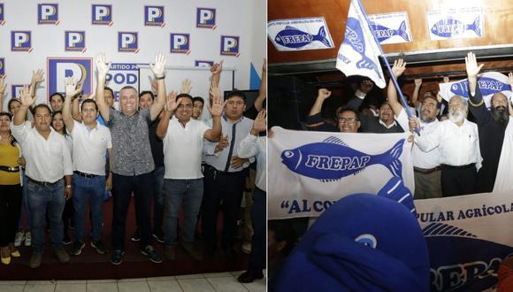 Podemos Perú y el Frepap celebraron su ingreso al Congreso. (Foto: César Bueno / GEC)