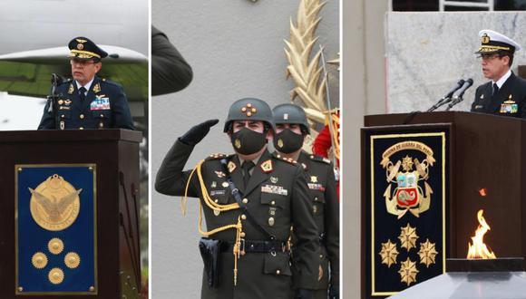 Revisa la hoja de vida de los nuevos rostros del Ejército, la Marina y la Fuerza Aérea. (Foto: composición/Mindef)