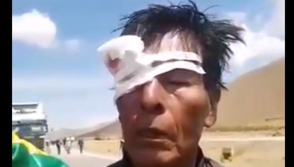 Campesinos leales a Evo Morales emboscan a opositores que viajaban a La Paz. (Captura de video).