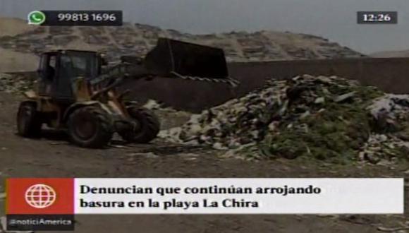 Chorrillos: basural sigue funcionando cerca de playa La Chira