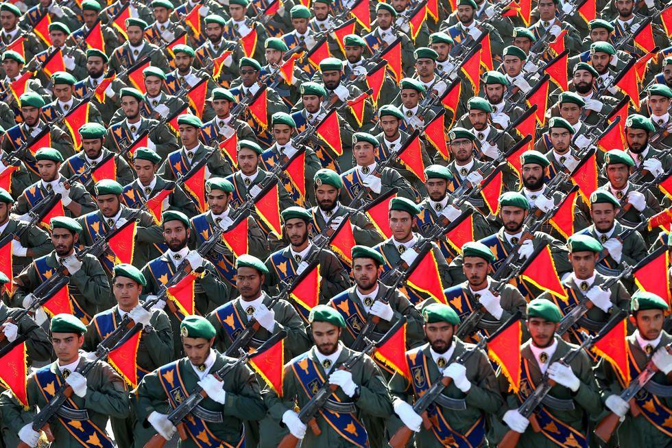 Los poderosos Guardianes de la Revolución. (AP).