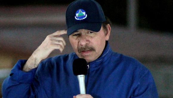 El presidente de Nicaragua, Daniel Ortega, durante la inauguración del paso elevado de Nejapa en Managua el 21 de marzo de 2019. (Foto: MAYNOR VALENZUELA / AFP).