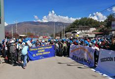 Apurímac: mineros artesanales bloquean vía interoceánica en Abancay