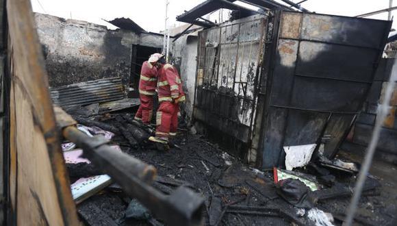 Pachacámac: incendio arrasó con cuatro viviendas precarias