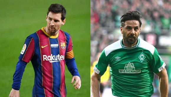Lionel Messi y Claudio Pizarro son los extranjeros con más partidos en las respectivas ligas donde destacaron, (Foto: AFP)