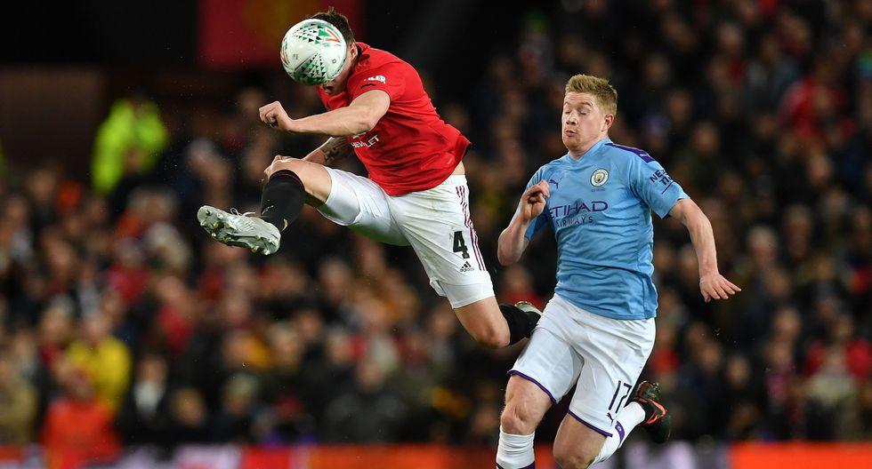 Manchester United vs. Manchester City: las postales del derbi en el Old Trafford por la Copa de la Liga. (Foto: AFP / Paul ELLIS)