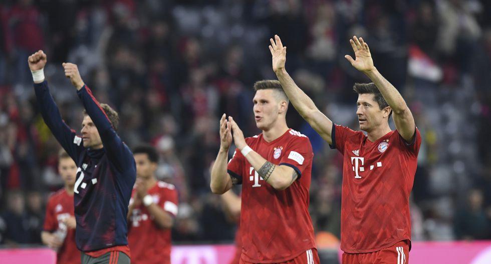 El Bayern Munich goleó 5-0 al Borussia Dortmund y pasó a liderar la Bundesliga, certamen que ha ganado en los seis últimos años. (Foto: AP)
