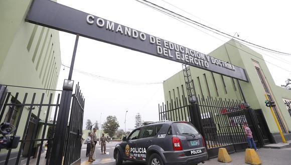 Centro de operaciones. Combustible salía del grifo del Coede, ubicado en la Escuela Militar. (Foto: Violeta Ayasta/GEC)