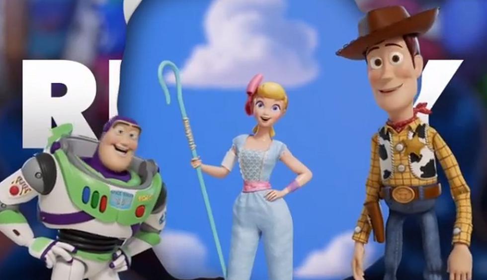 """Nuevo póster de """"Toy Story 4"""" muestra a Woody, Buzz Lightyear y Bo Peep reunidos.(Foto: Pixar)"""
