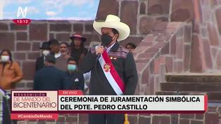 """Pedro Castillo juró como presidente: """"Por una nueva Constitución"""""""