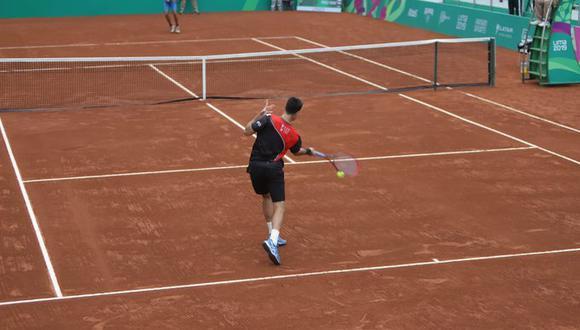 Nicolás Álvarez jugando en la llave preliminar en Lima 2019. (Foto: @lhdeporte)