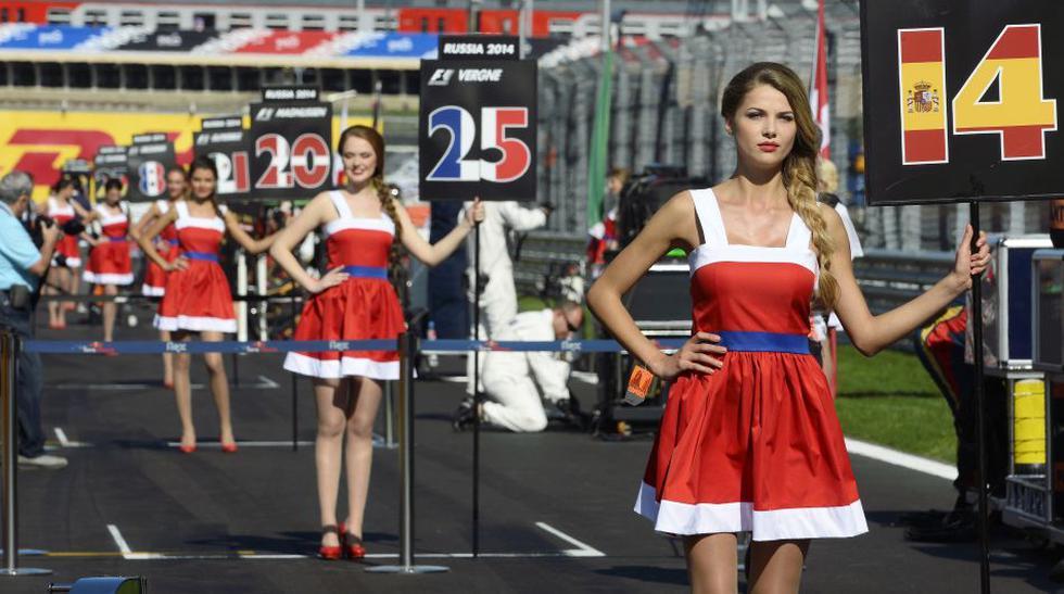 FOTOS: Las bellas mujeres del GP de Rusia - 1