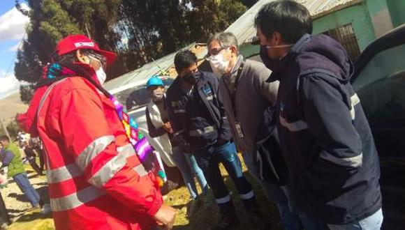 Huancavelica: Comitiva del Ejecutivo se reúne con pobladores de Chopcca que retuvieron a ocho ingenieros (Foto difusión).
