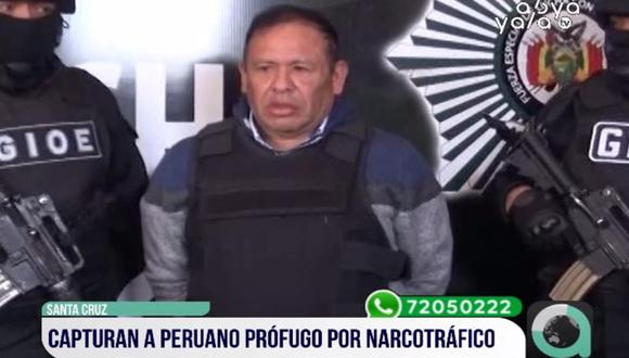 Capturan en la ciudad boliviana de Santa Cruz a buscado narcotraficante peruano. (Foto: Captura)