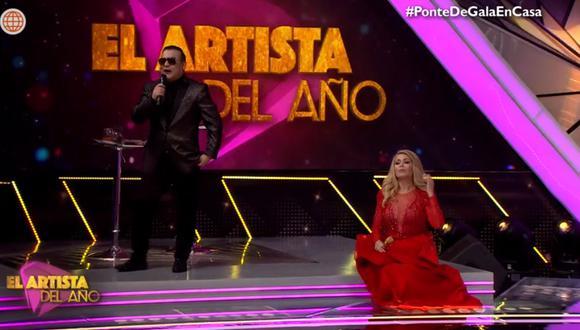 """Juan Carlos Orderique fue presentado como el nuevo coanimador de """"El artista del año"""". (Foto: Captura América TV)"""