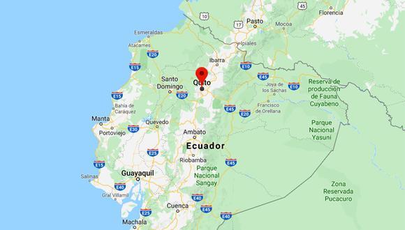Un sismo sorprendió a la capital de Ecuador la madrugada de este domingo. (Foto: Google Maps)