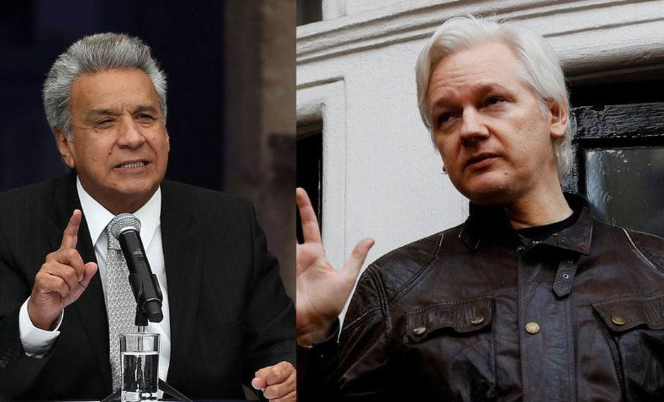 Lenín Moreno acusa a fundador de Wikileaks, Julian Assange, de espiarlo. (AFP / Reuters)