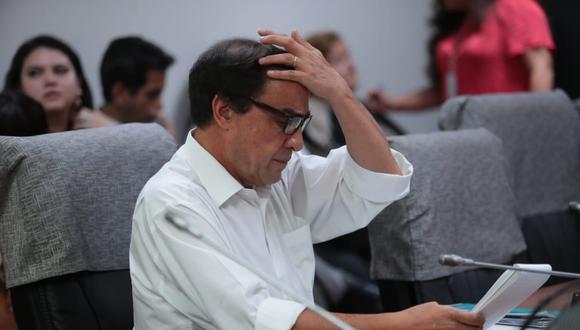 El congresista de Acción Popular, Yonhy Lescano, ha negado los cargos de acoso sexual que la víctima presentó en su contra. (Foto: Hugo Pérez / GEC)