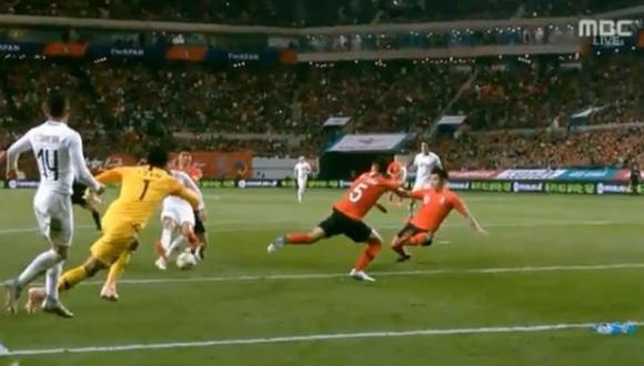 Matías Vecino metió el empate transitorio en Suwon tras un error defensivo de Corea del Sur. Mira aquí el video del gol del centrocampista de Uruguay. (Foto: captura de pantalla)