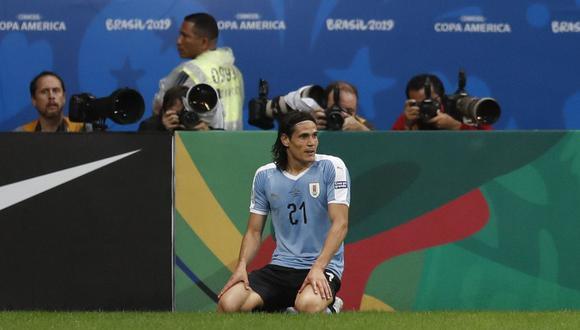 Perú vs. Uruguay: Cavani marcó el 1-0, pero línea anuló el gol por cuartos de la Copa América   VIDEO. (Foto: AFP)