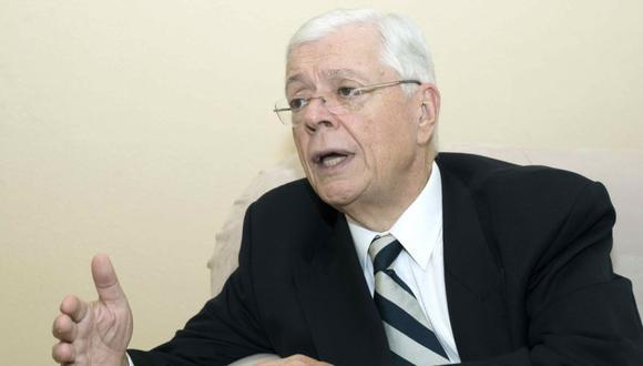 El excanciller de Nicaragua Francisco Aguirre Sacasa (1997-2002), durante una entrevista en su casa en Managua (Nicaragua). (Foto: EFE/ Jorge Torres).