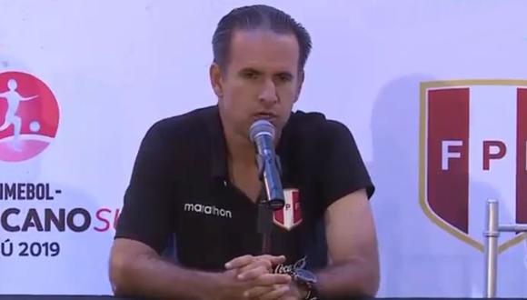 Carlos Silvestri se mostró emocionado por la victoria, pero aguarda otros resultados para conocer el destino de la Selección Peruana Sub 17. (Foto: captura)