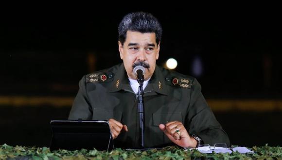 Nicolás Maduro durante un encuentro con el alto mando militar en Caracas. (Foto: EFE/PRENSA MIRAFLORES).