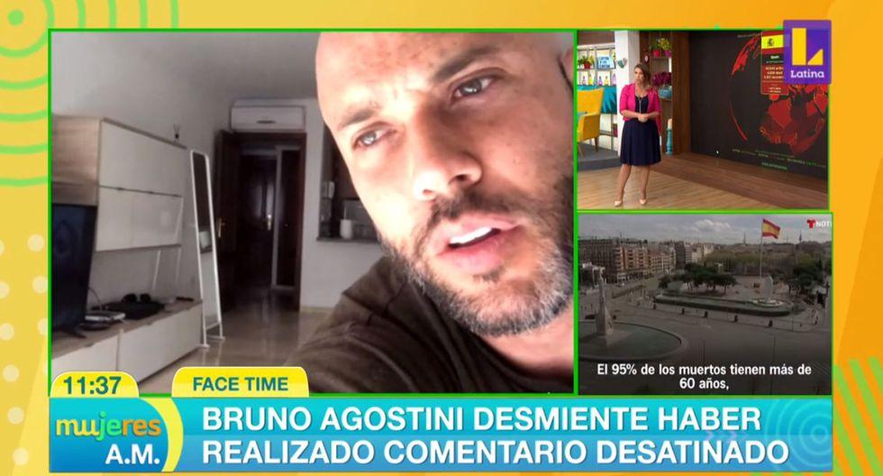 """Bruno Agostini asegura que no minimizó al coronavirus y negó haber dicho que """"solo mueren los viejitos"""". (Foto: Captura de video)"""