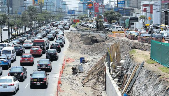 La vía auxiliar permanecerá cerrada del 6 al 26 de noviembre. (Alessandro Currarino / El Comercio)