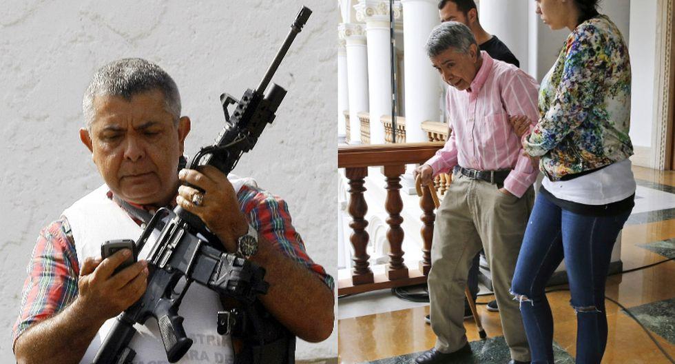 El régimen de Venezuela excarceló al general retirado Ángel Vivas, que estaba detenido desde el año pasado. (Foto: AFP | AP/Ariana Cubillos)