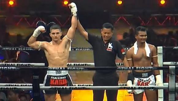 Mazzetti (izq.) ahora peleará en la final del torneo con reglas 'kard chuek'. (Captura: Thai Fight)