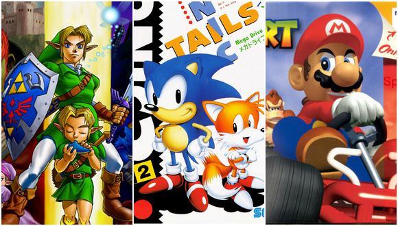 The Legend of Zelda: Ocarina of Time, Sonic the Hedgehog 2 y Mario Kart 64. (Imagen: Nintendo / Sega)