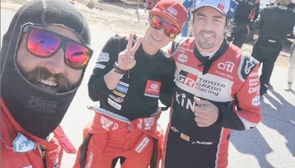 Alonso, Fernanda y Fernando Alonso. (Foto: Instagram)