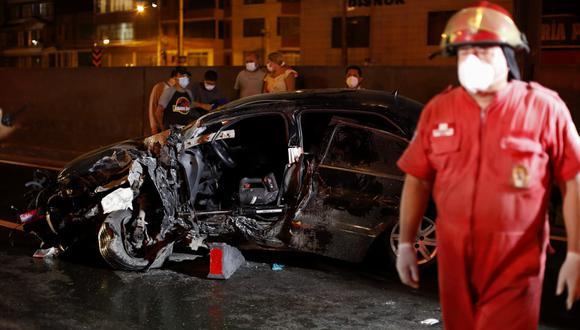Accidente en la Panamericana Norte ocurrió esta madrugada a la altura de la Av. Nicollini. (Foto: César Bueno @photo.gec)