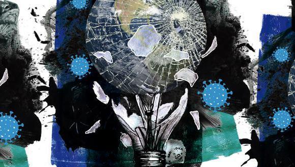 """""""¿Qué tienen en común estas cuatro ideas dañadas? """". (Ilustración: Giovanni Tazza)"""