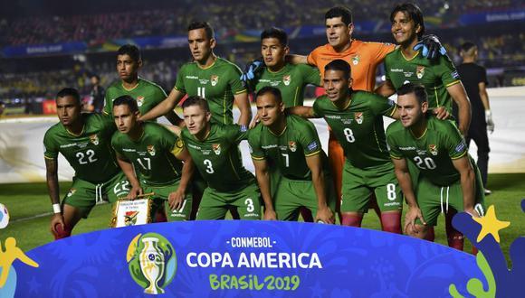 El primer once de Bolivia en la Copa América. (Foto: AFP)