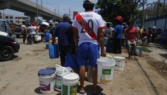 Sedapal cortará el servicio de agua potable en 20 distritos de Lima y Callao por obras de la Línea 2 del Metro de Lima. (Luis Centurión)