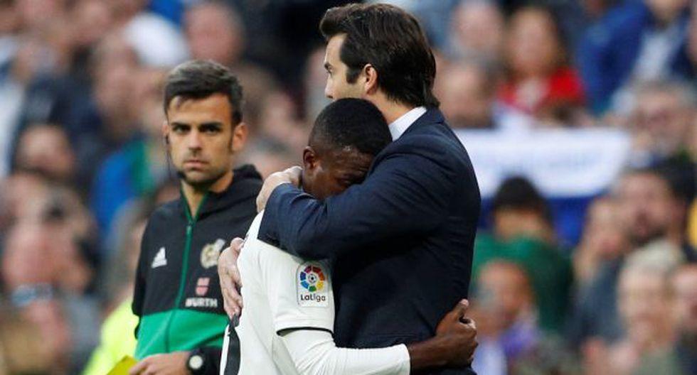 Vinicius y Solari. (Foto: Reuters)