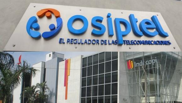 Indecopi y Osiptel. (Foto: Difusión)